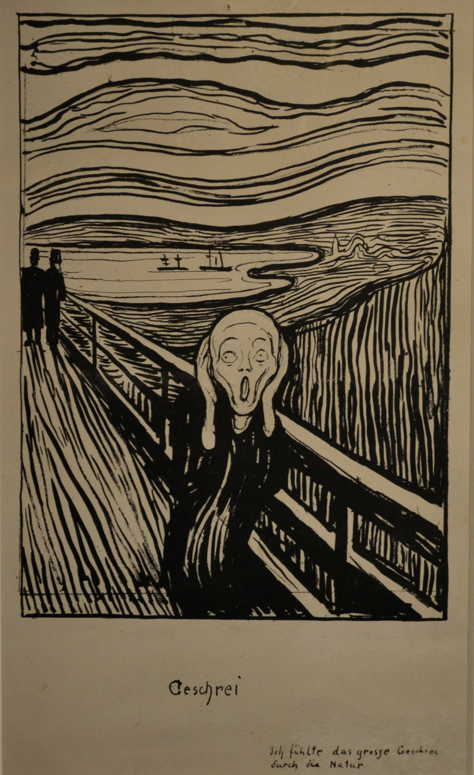 Lithograph The Scream from Edvard Munch