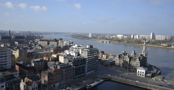 View from MAS Antwerp
