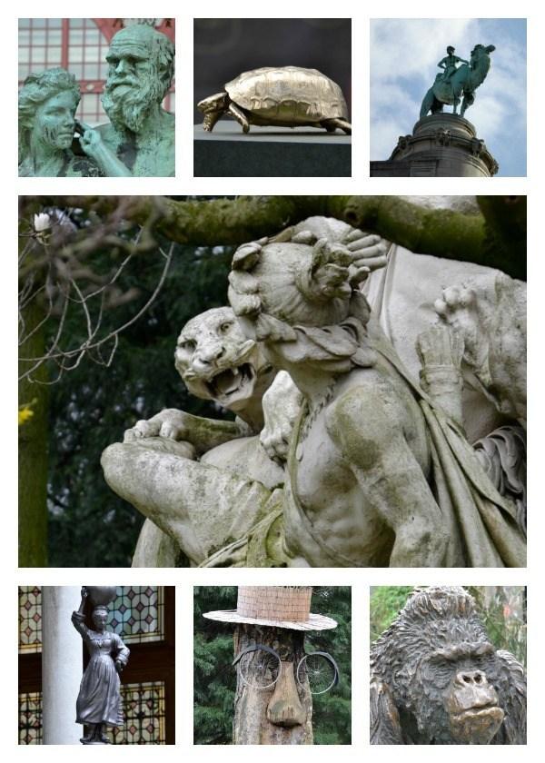 Antwerp Zoo statues