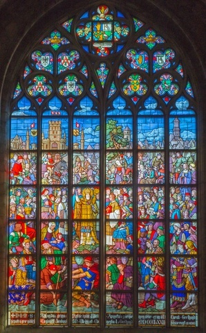 Antwerp Cathedral stained-glass window