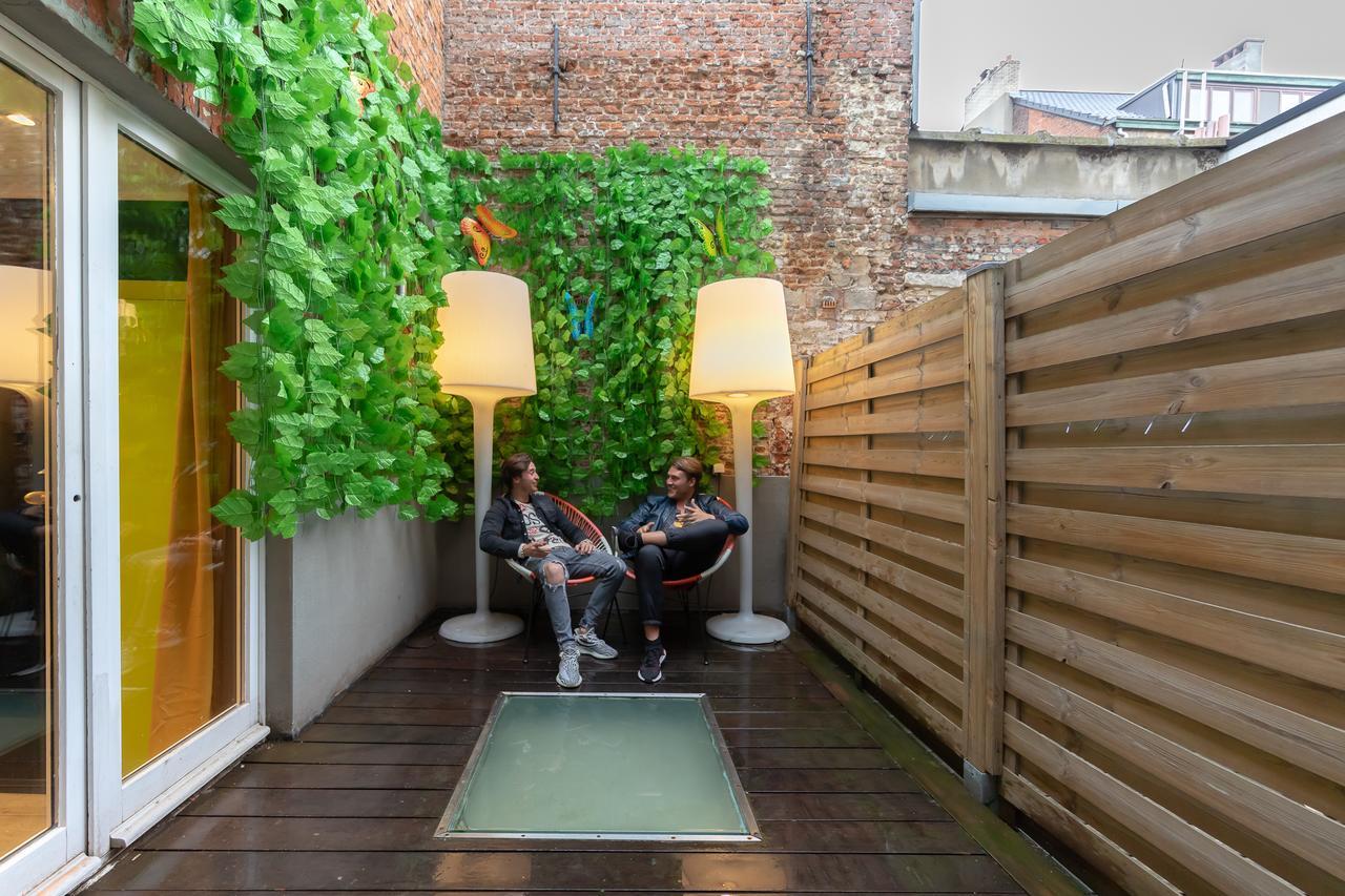 The Antwerp Hostel terrace