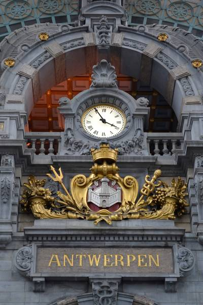 Central Station Antwerp Clock