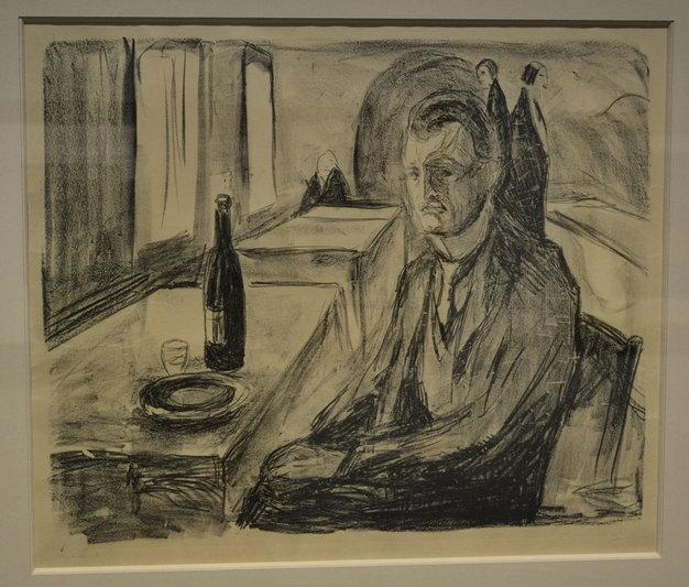 Self-portrait Edvard Munch at Museum De Reede in Antwerp