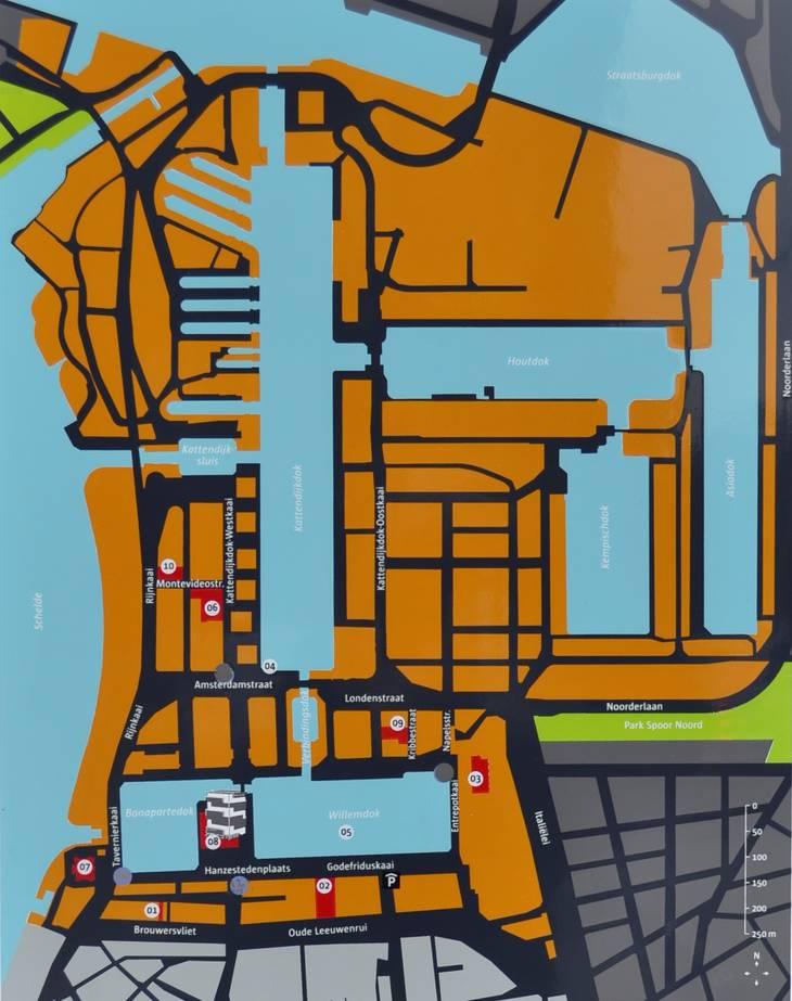 Eilandje Antwerp map