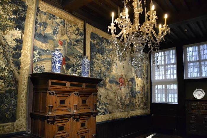 Luxueuze wandtapijten in het Museum Plantin-Moretus Antwerpen