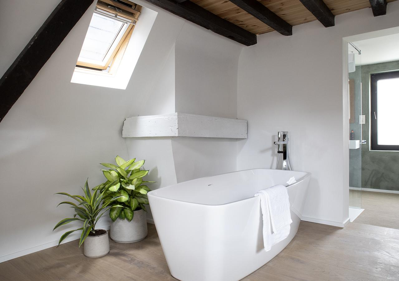 Luxurious bath at B&B The Greenhouse in Antwerp