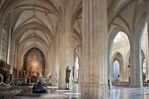 Medieval arches in the Antwerp Cathedral
