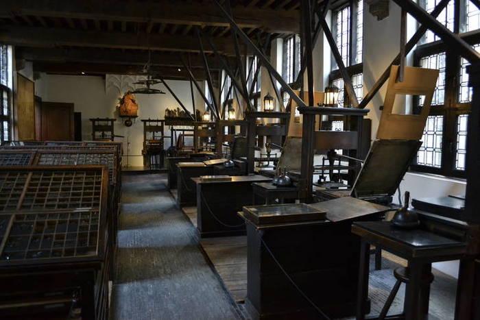 De drukpersen van het Museum Plantin-Moretus Antwerpen